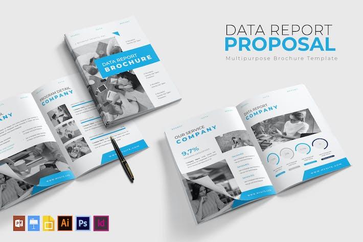 Thumbnail for Отчет о данных | Шаблон брошюры