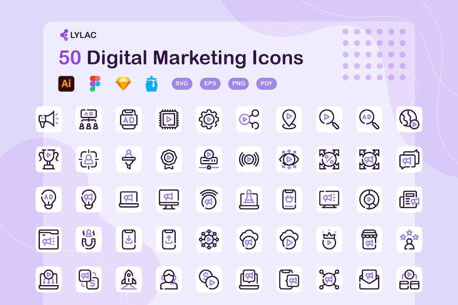 Lylac - Digital Marketing Icons