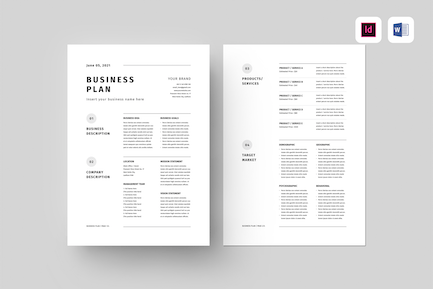 Business Plan | MS Word & Indesign