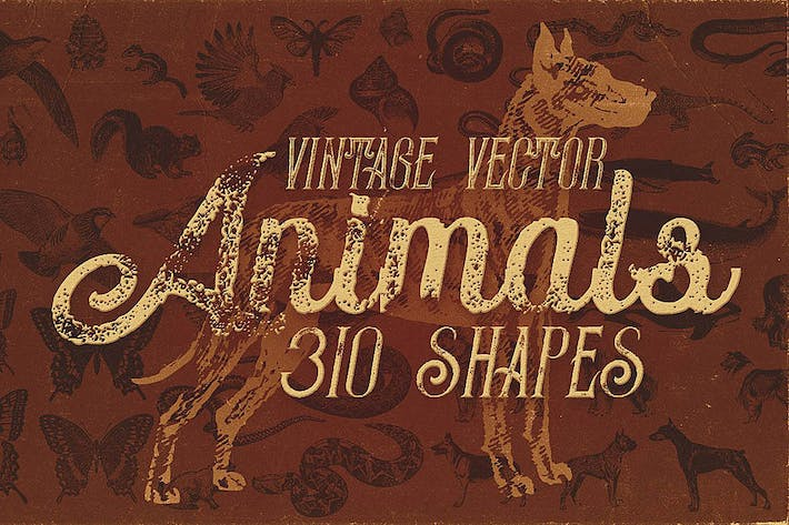 Thumbnail for Vintage Animals Vectors