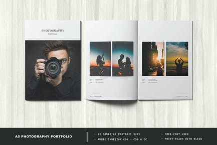 A5 Photography Portfolio / Photo Album