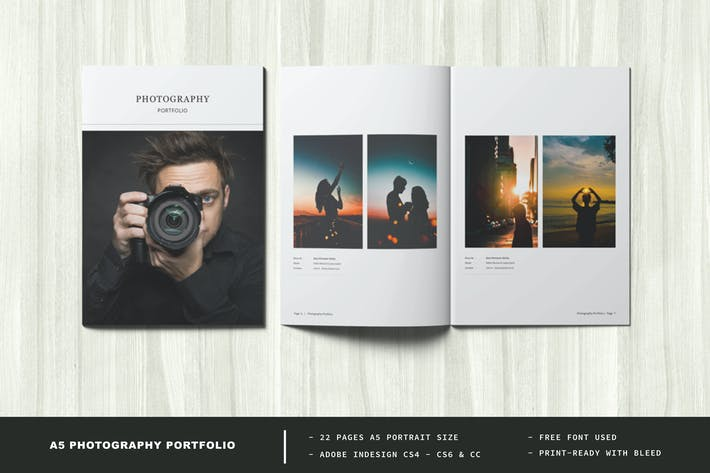 A5 Photography Portfolio / Photo Album