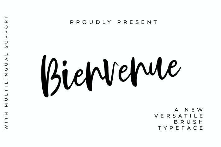 Thumbnail for Bienvenue Handwritten Font