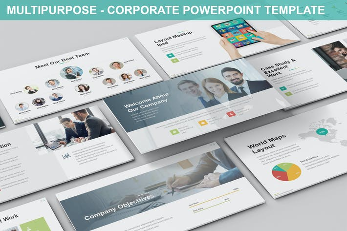 Thumbnail for Multipurpose - Corporate Powerpoint Template