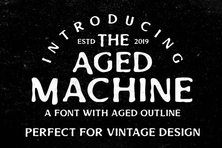 Thumbnail for Aged Machine - Vintage Font