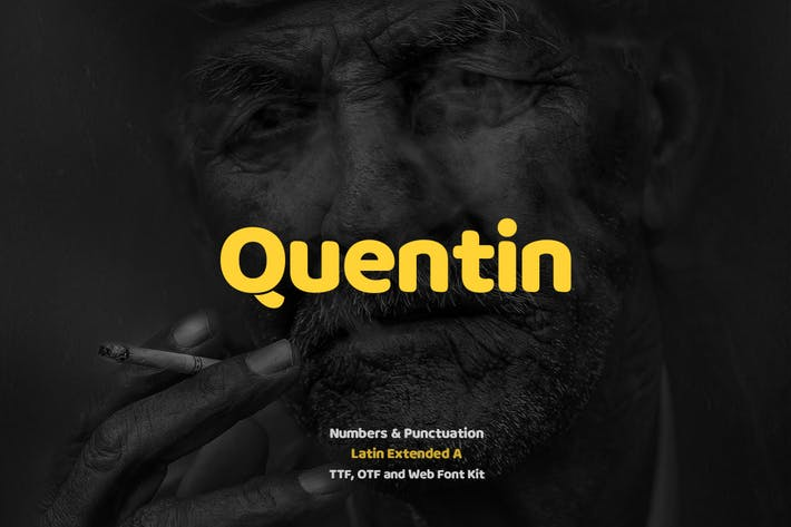 Thumbnail for Quentin Pro Typeface + Webfonts