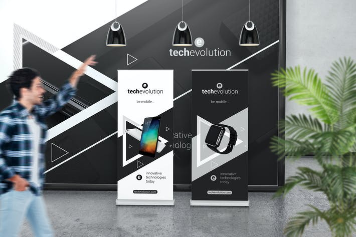 Cover Image For Roll Up Banner Stand Mockup