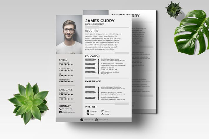 Thumbnail for CV Resume Professional Template