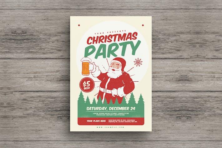 Thumbnail for Retro Christmas Party Flyer