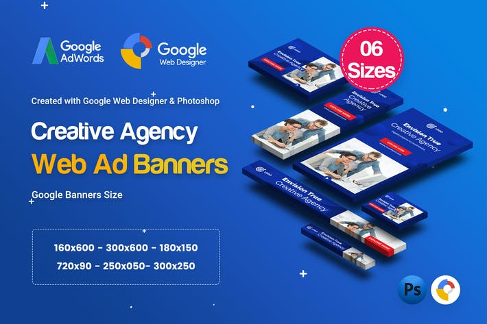Thumbnail for C12 - Creative Agency, Startup Banners GWD & PSD