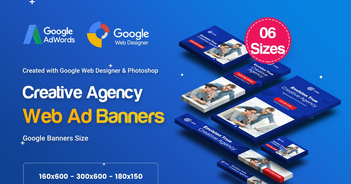 Download C12 - Creative Agency, Startup Banners GWD & PSD by iDoodle