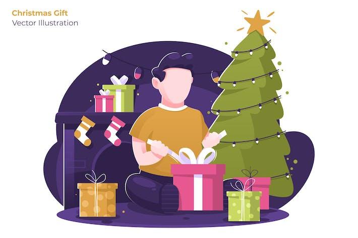 Thumbnail for Christmas Gift - Vector Illustration