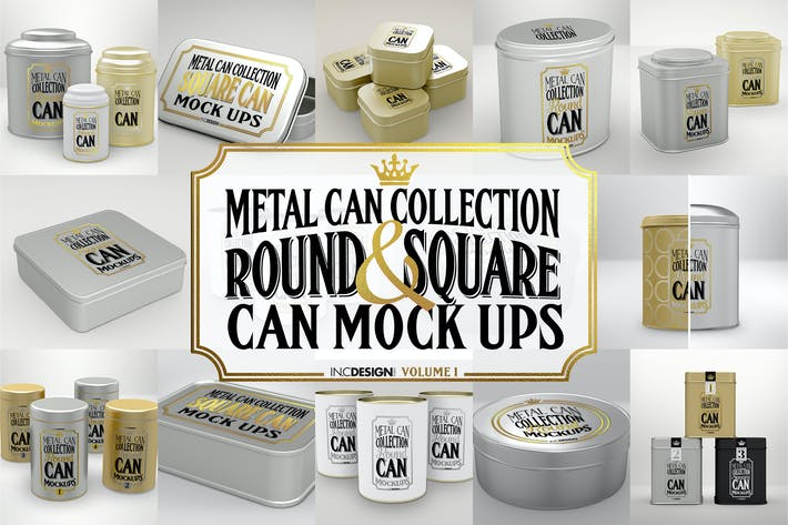 Thumbnail for Vol. 1 Metal Can Mockup Collection