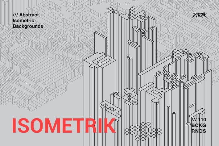 Thumbnail for Isometrik | Abstract Isometric Backgrounds