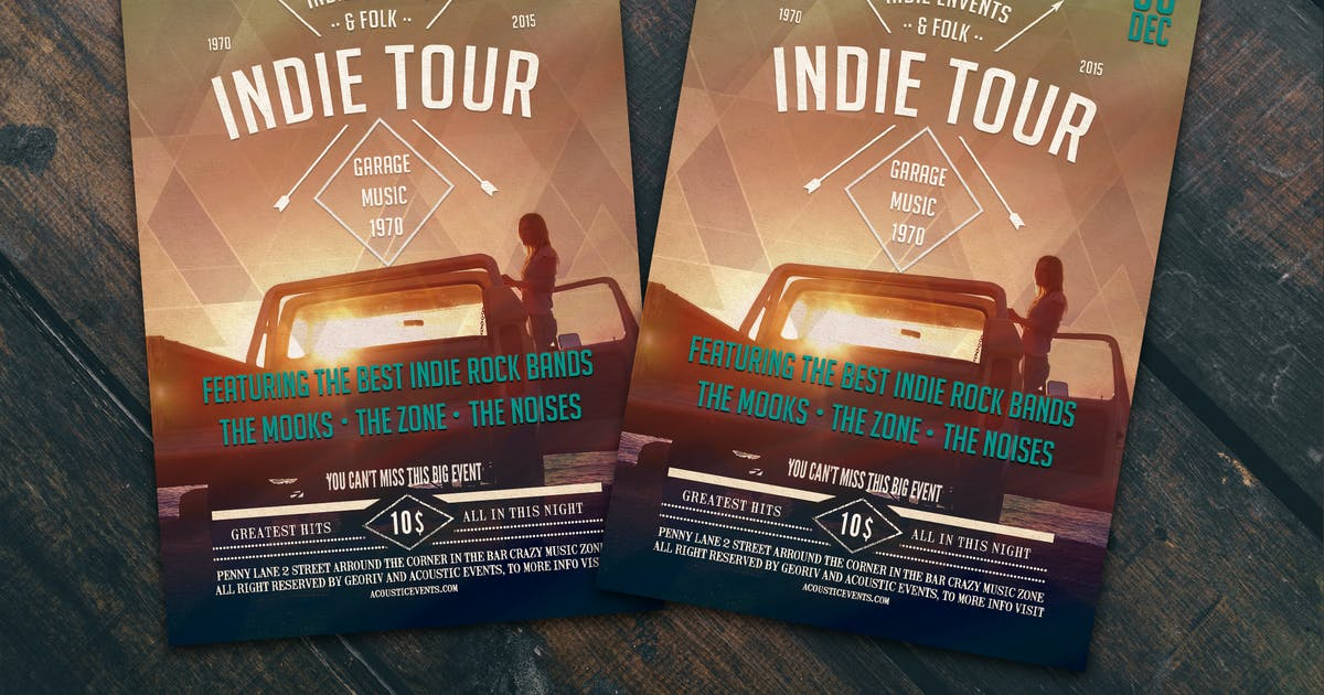 Download Indie Tour Flyer Poster by Unknow