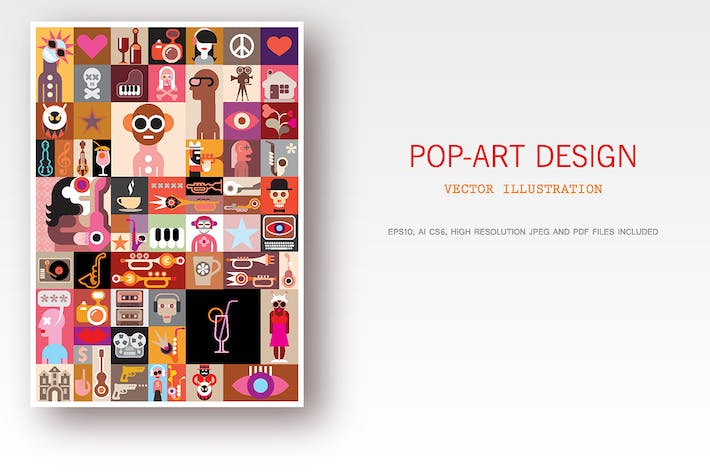 Thumbnail for Pop-Art Design Vektor illustration