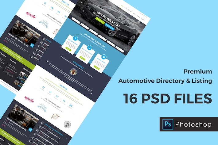 Thumbnail for Automotive Directory and Listing PSD Template