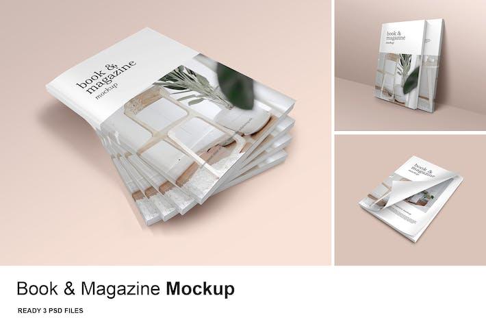 Thumbnail for Book & Magazine - Mockup Vol. 2