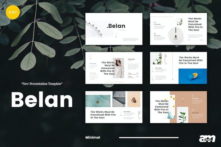 Cover Image For Belan Minimal Google Slides