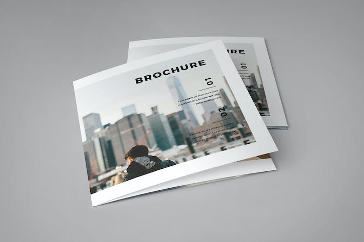 Cover Image For Square Cool Modern Style Trifold