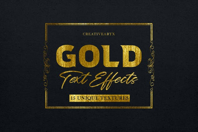 Gold Text Effects 2 - product preview 0