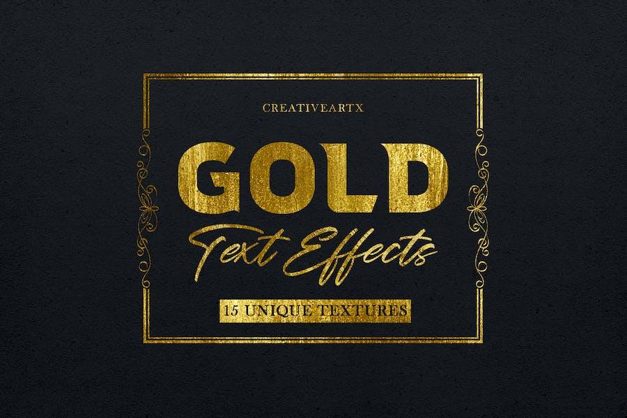 Золотые текстовые эффекты 2