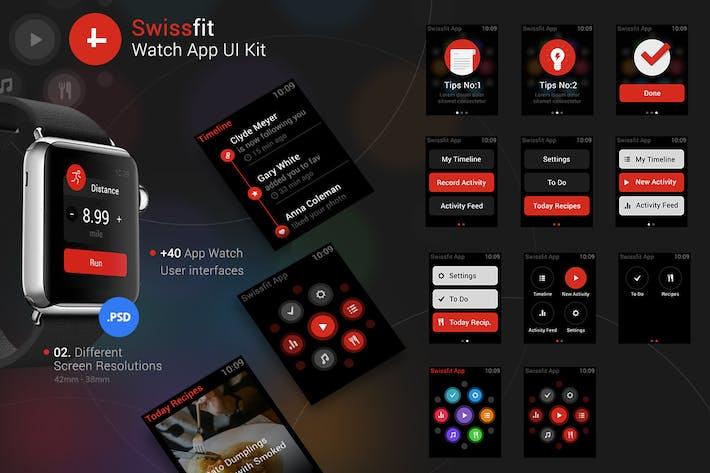 Thumbnail for Kit de interfaz de usuario de la Aplicación de reloj Swissfit
