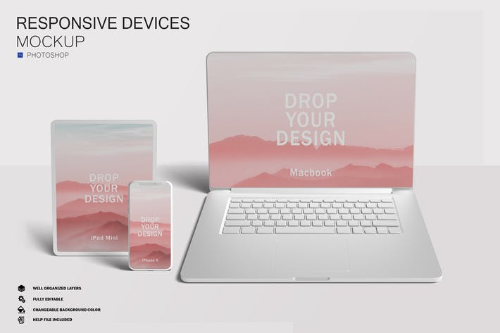 Thumbnail for Responsive Screen Mockups