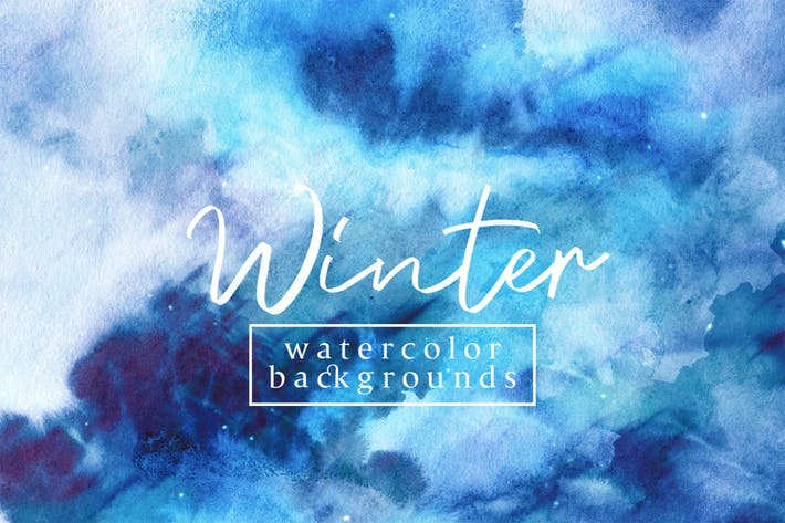 Cover Image For Winter Watercolor Backgrounds