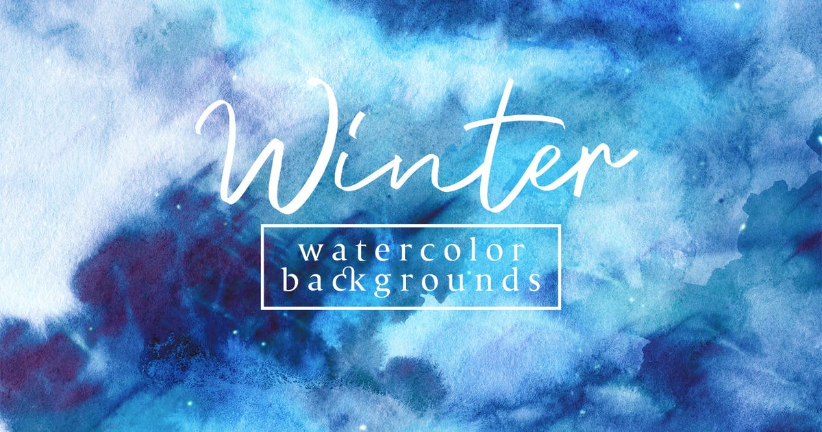 Download Winter Watercolor Backgrounds by FreezeronMedia
