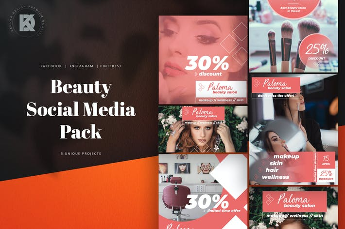 Thumbnail for Beauty Salon Social Media Pack