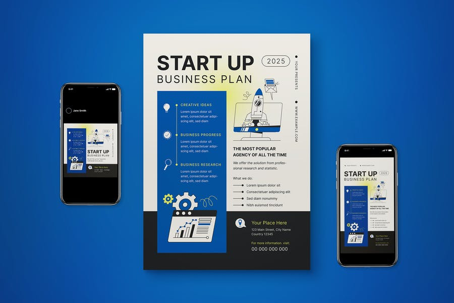 Start-Up Flyer Set