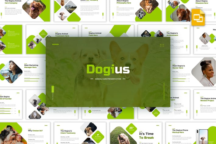 Thumbnail for Dogius - Animal Care Google Slides Template