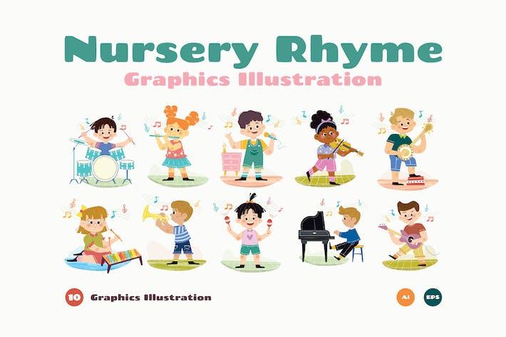 Thumbnail for Nursery Rhyme Graphics Illustration