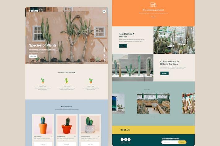 Plant Shop - Landing page