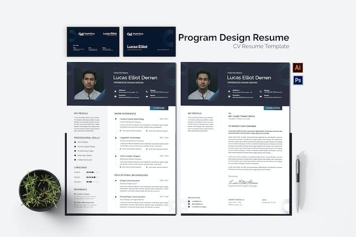 Thumbnail for Program Design CV Resume Set