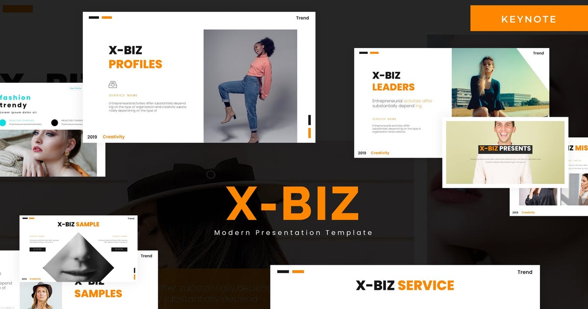Download Xbiz - Keynote Template by karkunstudio