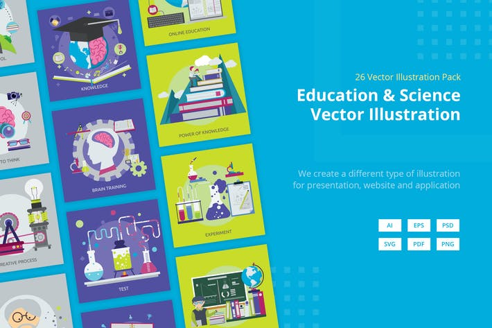 Thumbnail for Education and Science Vector Illustration