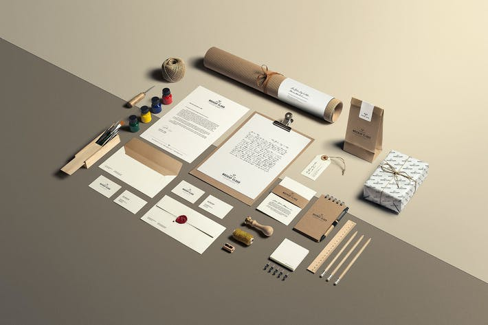 Thumbnail for Art & Craft Stationery Branding Mockup