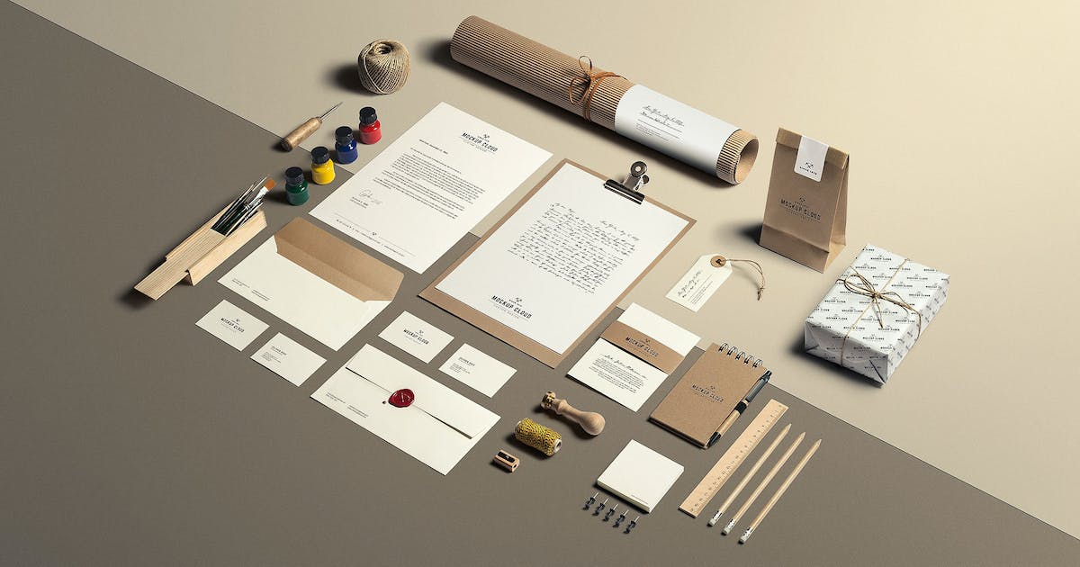 Download Art & Craft Stationery Branding Mockup by Genetic96