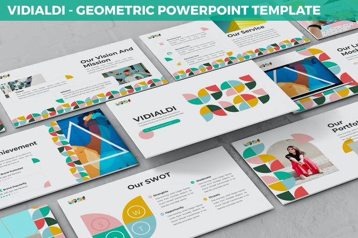 Vidialdi - Geometric Powerpoint Template