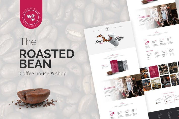 Thumbnail for Roasted Bean - Creative & Coffee Shop PSD Template