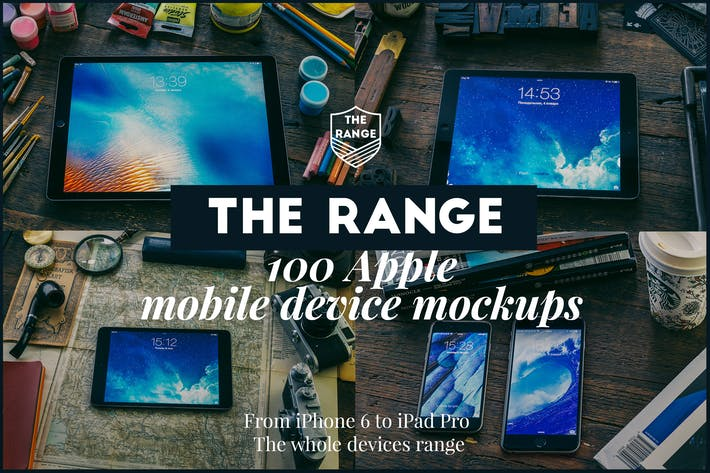 Cover Image For The Range-100 Apple idevices mockups