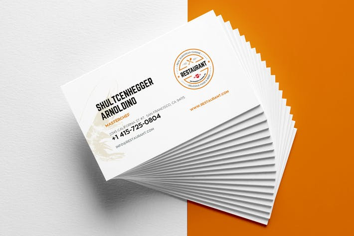 Cover Image For Restaurant Business Card Templates