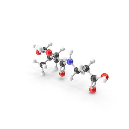 Pantothenic Acid (Vitamin B5) Molecular Model