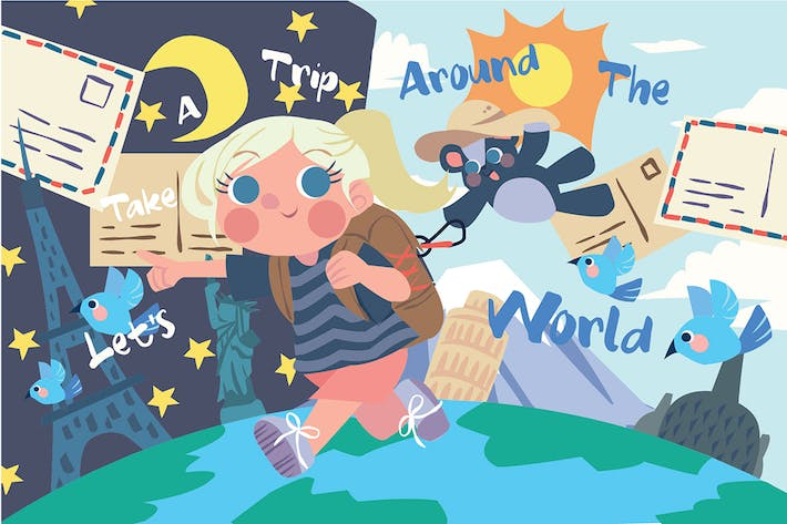 Thumbnail for A Trip The World - Vector Illustration