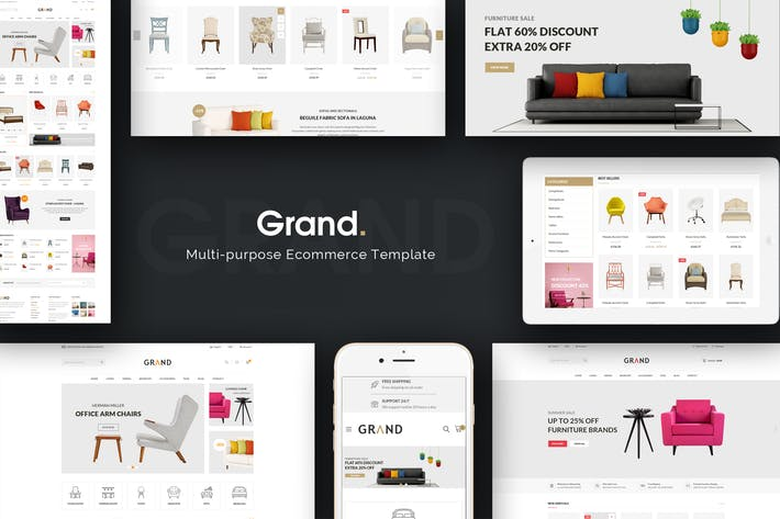 Thumbnail for Grand - Responsive Furniture Magento Theme