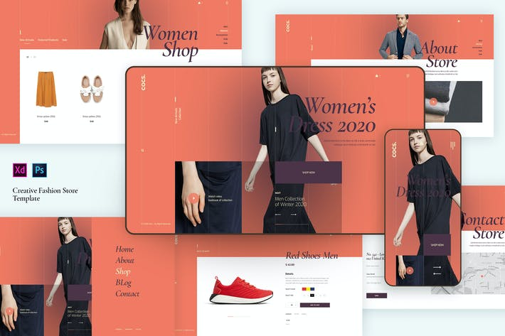 Thumbnail for Creative Fashion Ecommerce template