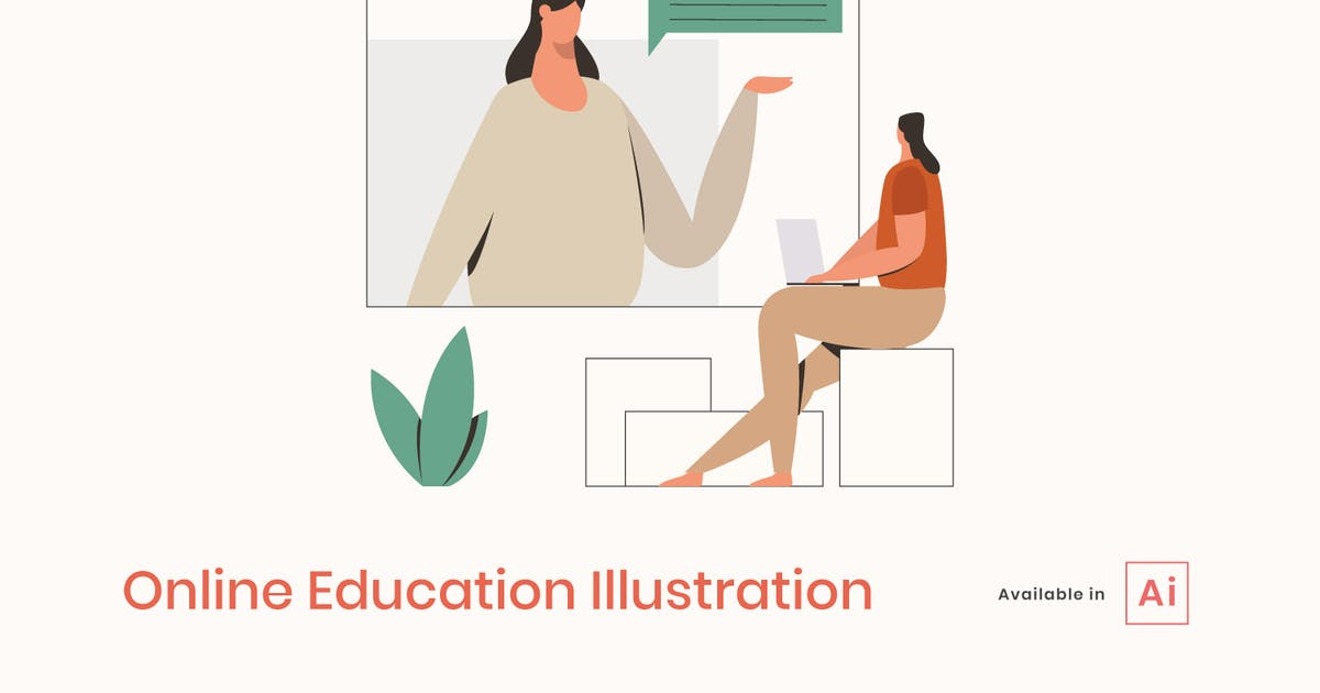 Download Online Education Illustration by visuelcolonie