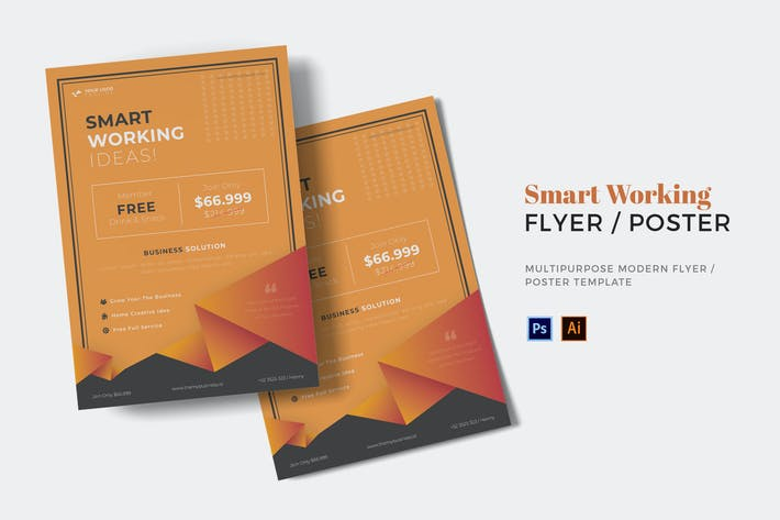 Thumbnail for Smart Working Flyer